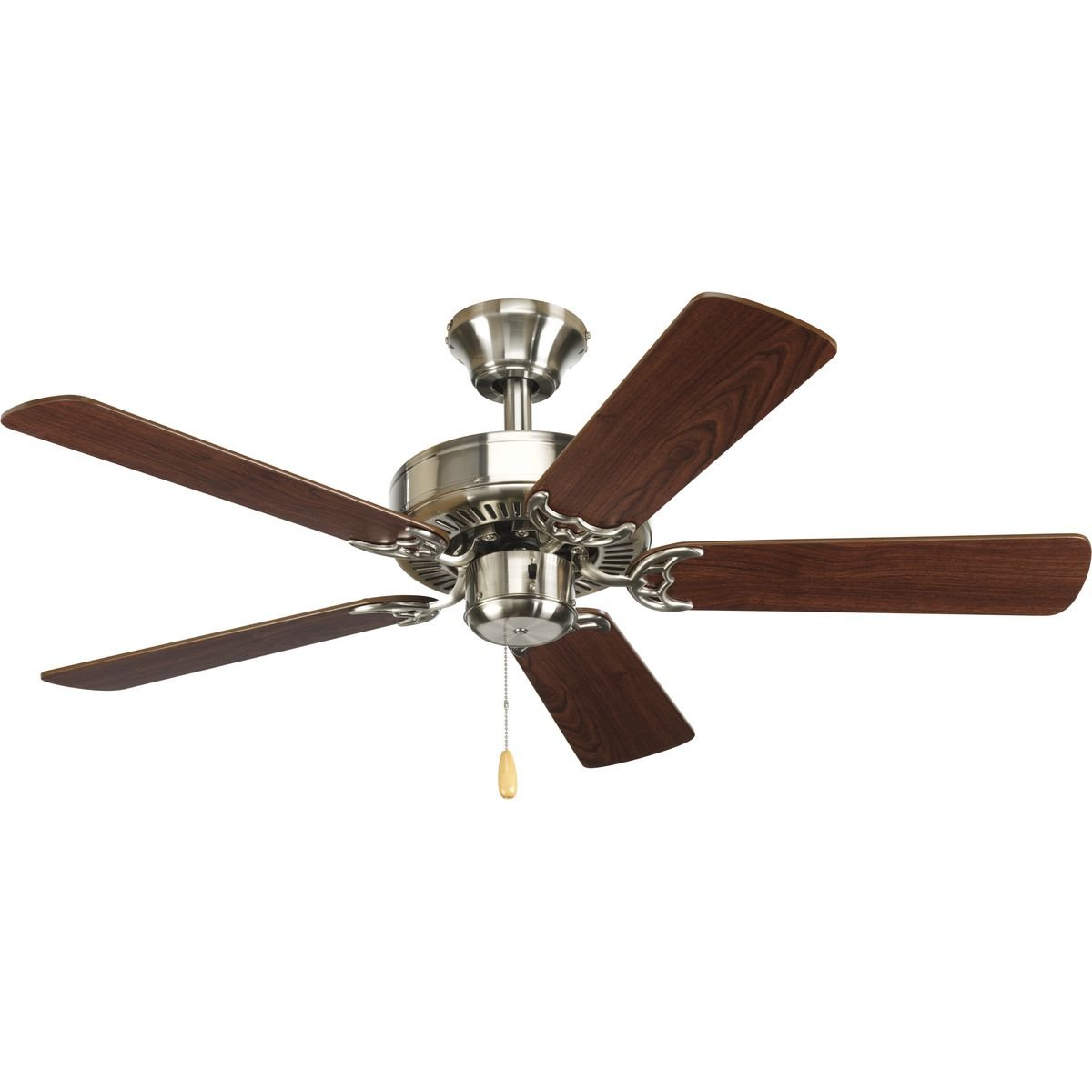 Progress Lighting P2500-09 42-Inch Fan with 5 Blades with Reversible Cherry/Natural Cherry Blades, Brushed Nickel by Progress Lighting (Image #2)