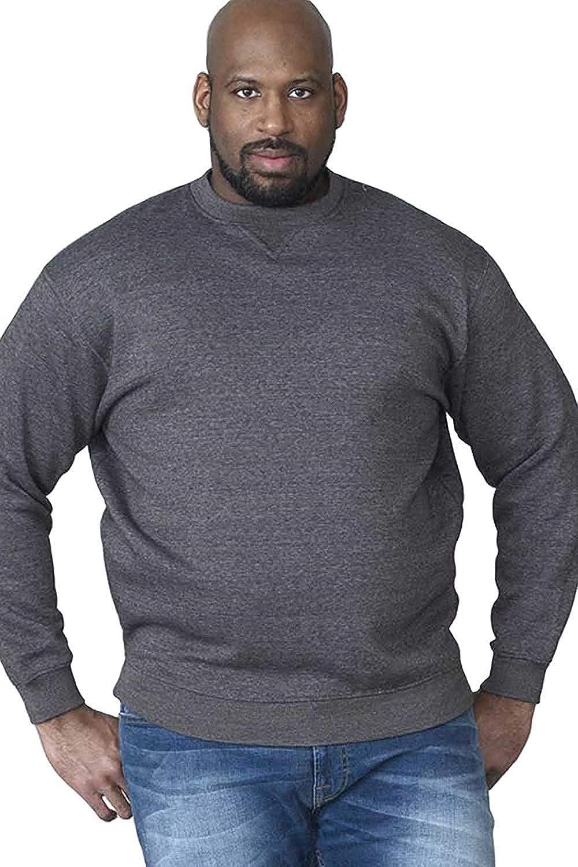 TALLA 6XL. Rockford tripulación Cuello Poly algodón Forro Polar Sudor Camiseta (1616) tamaño 1x l hasta 8X L, Negro, Gris y Azul