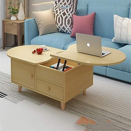 Amazoncom Side Table Modern Multi Function Lifting Coffee