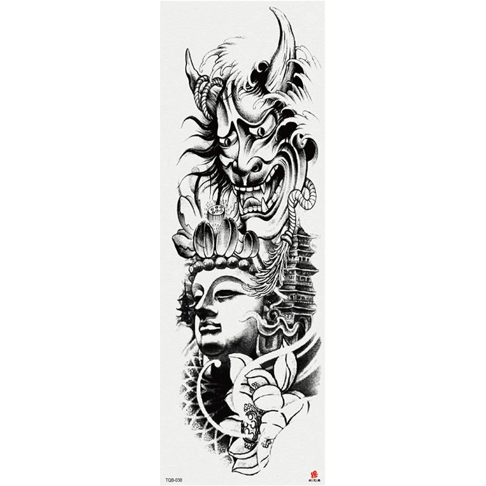 Rasguño Arte Brazo completo Etiqueta engomada del tatuaje Gran ...