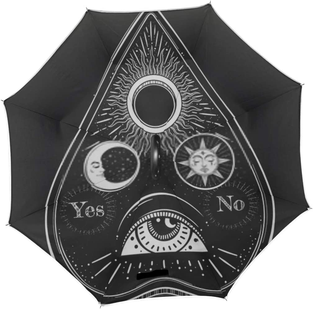 Double Layer Inverted Inverted Umbrella Is Light And Sturdy Bohemian Hand Drawn Ouija That Consists Reverse Umbrella And Windproof Umbrella Edge Nigh