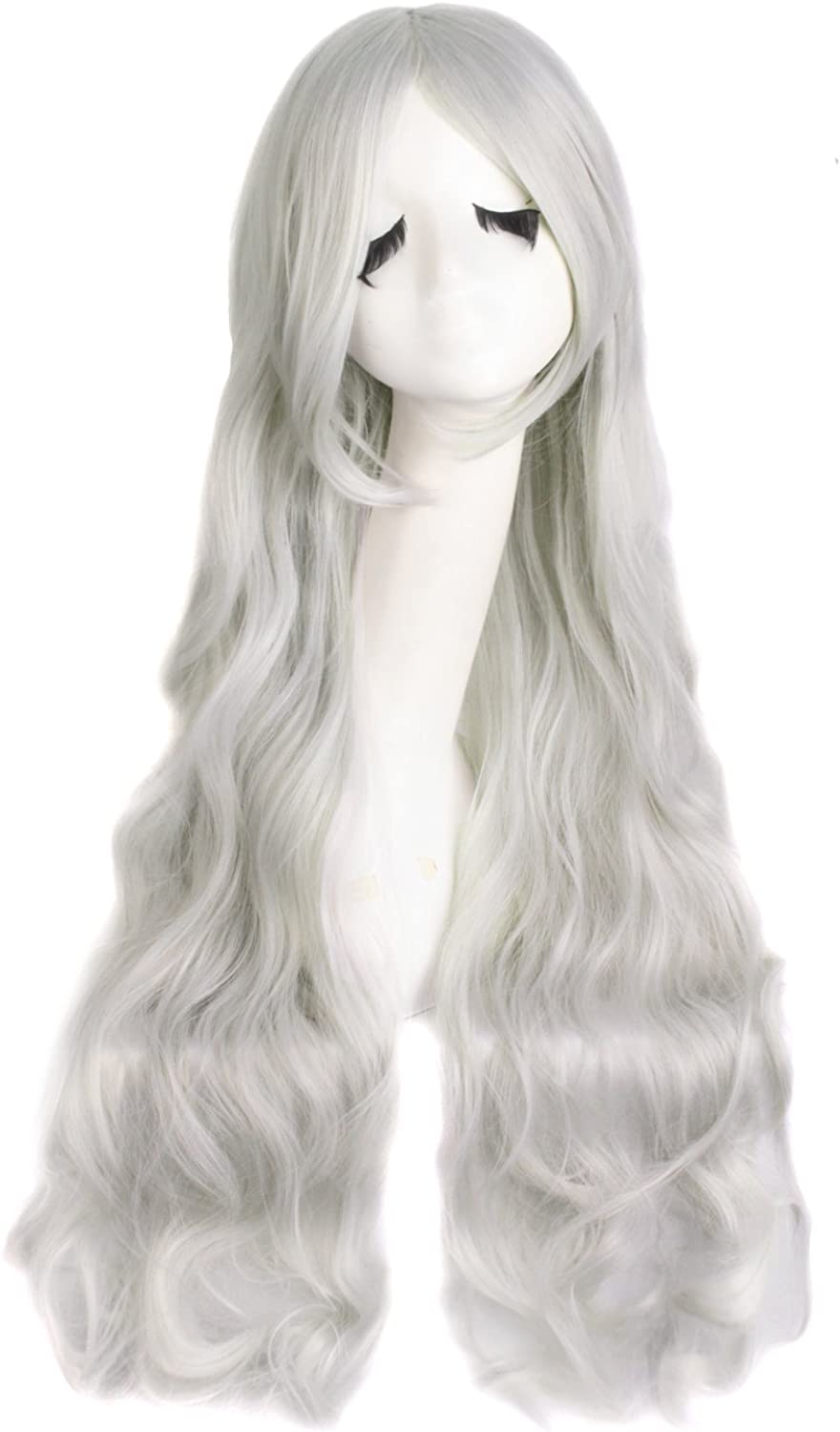 MapofBeauty 32 80cm Long Hair Spiral Curly Cosplay Costume Wig Light Blonde