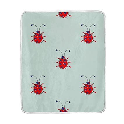 Amazon.com  Cute Insect Ladybird Throw Blanket for Couch Bed Living ... 89d7a9e203