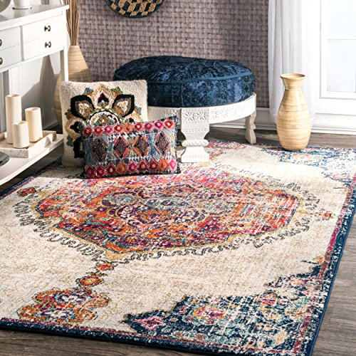 Traditional Vintage Corinthian Medallion Rug, 8 Feet by 10 Feet (8