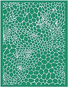 DGAGA DIY Self-Adhesive Silk Screen Stencil Mesh Transfers Leopard Print Stencil Painting on Wood, Home Decor, Bag, T-Shirts(8.5x11,Leopard)