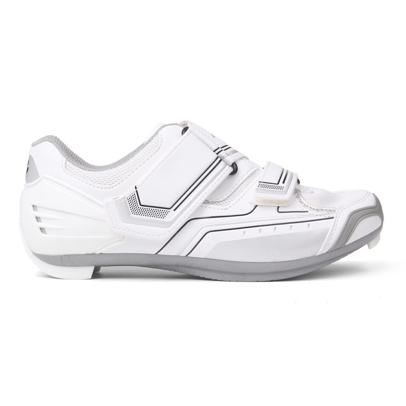 Muddyfox Womens RBS100 Ladies Cycling Shoes Dual Touch And Close Fasteners White/Silver 6.5 (40)