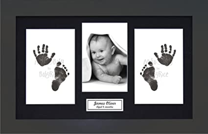 Anika baby cornice portafoto in legno grezzo con kit per
