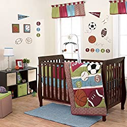 Sports Star 3 Piece Baby Crib Bedding Set for boys by Belle