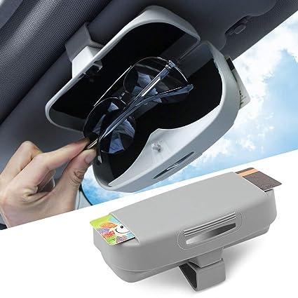 Amazon.com  Car Sun Visor Glasses Box case Ticket Receipt Clip Storage  Holder Fit Tesla Model 3  Tesla Model S and Model X 2017 2018 2019  Accessories Grey  ... e3b6d9d9ea5