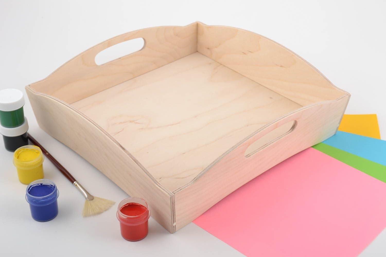 Pieza para manualidades artesanal bandeja de contrachapado bandeja ...