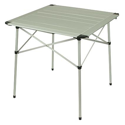 Campingtisch Amazon.10t Alutab Campingtisch 70x70cm Mobiler 2 4 Mann Aluminium Tisch Wasserfester Roll Up Gartentisch