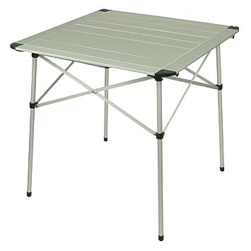 Klapptisch camping  10T Alutab Campingtisch 70x70 cm für 2 - 4 Personen Roll-Up Reise ...