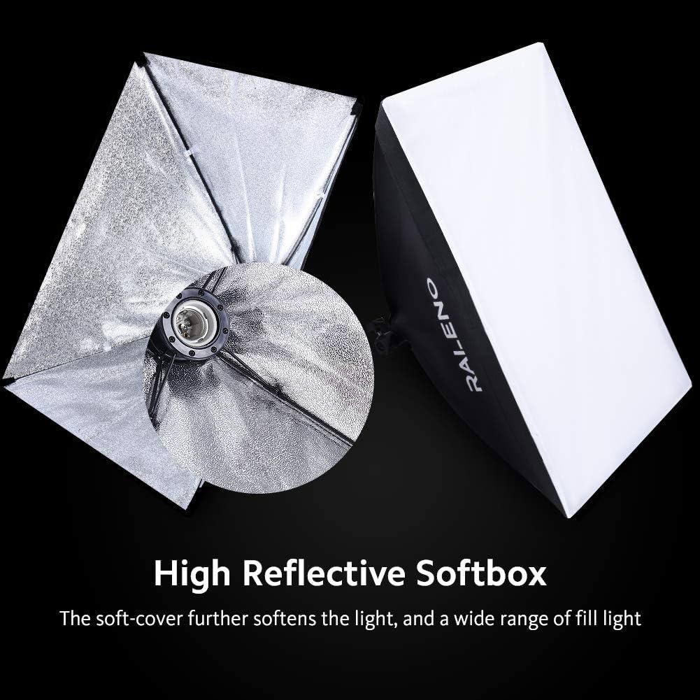 Studio Softbox Iluminación Kit Fotografía, Raleno 50x70cm Equipo ...