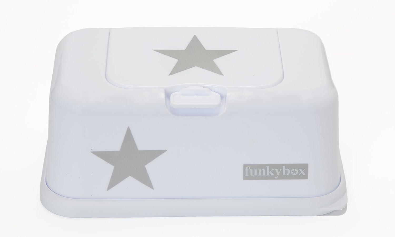 Funky Box FB09/Feuchtt/ücherreisebox wei/ß mit Sternen
