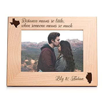 Amazoncom Personalized Long Distance Picture Frame 5 X 7