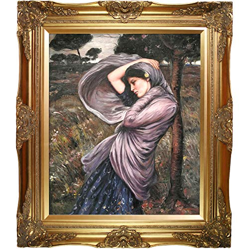 La Pastiche OverstockArt Boreas by John William Waterhouse with Victorian Gold Frame