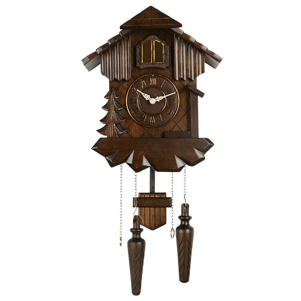 Hense Clocks(ハンセ)クォーツカッコー時計 掛け時計 振り子時計 報時付 消音 鳩時計 HP18-A B06XYJCGT9 HP18-A HP18-A