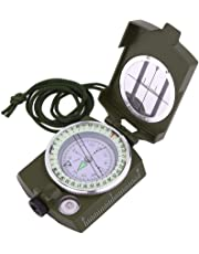 Sportneer Compass, Military Lensatic Sighting Compass with Carrying Bag, Waterproof and Shakeproof, Army Green