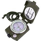 Sportneer 方位磁石 方位磁針 コンパス 蓄光 ミリタリー 軍用モデル 折り畳み式 軽量 防水 コンパクト アウトドア 登山 防災 ハイキング 用