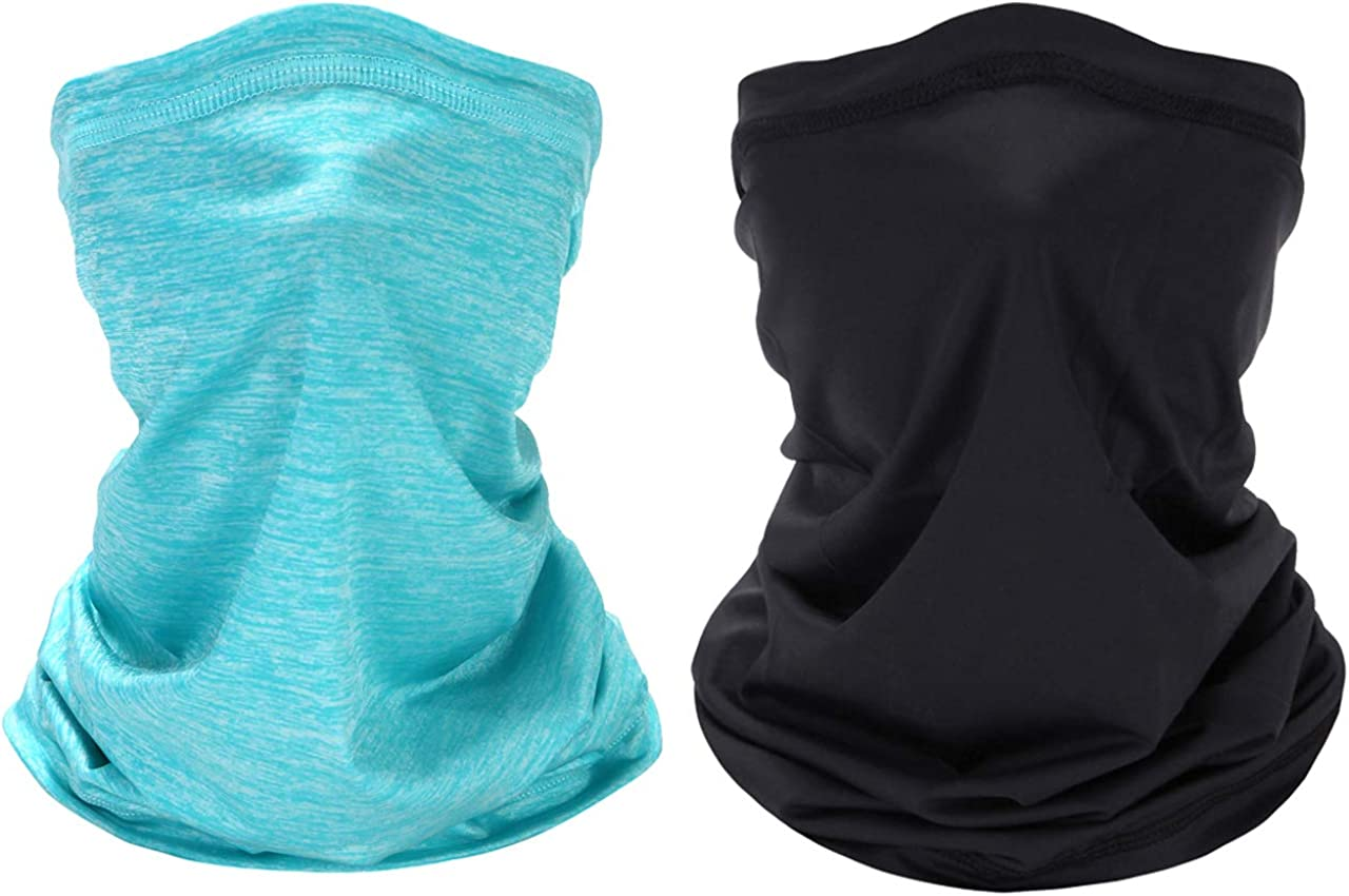 Neck Gaiter Face Mask Reusable Washable Mouth Cover Scarf Sun Protection Mask Bandanas for Dust Outdoors