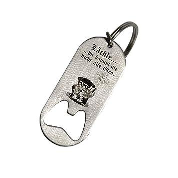 Creativgravur® - Llavero de acero inoxidable con grabado ...