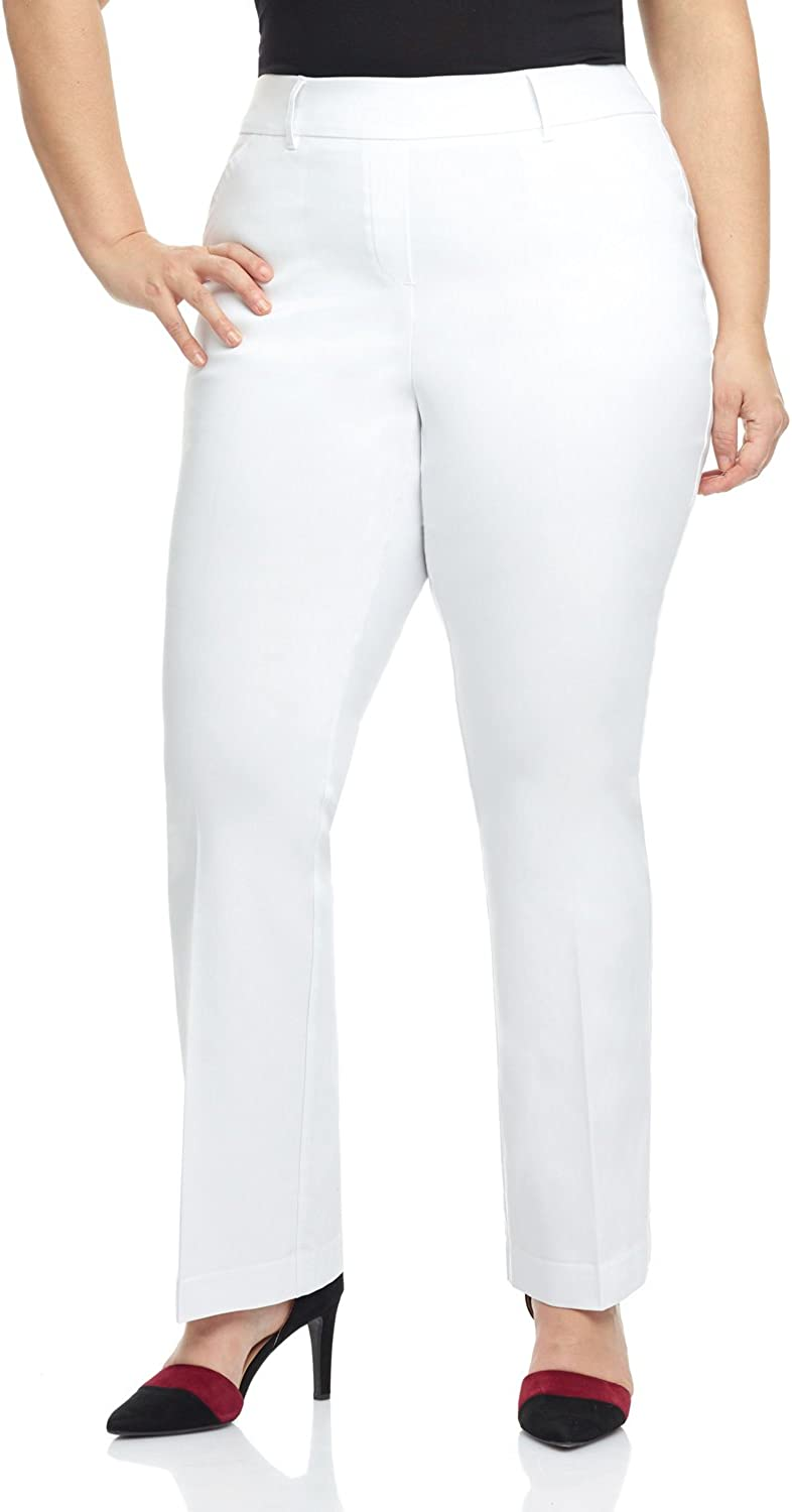 Rekucci Curvy Woman Ease into Comfort Barely Bootcut Plus Size Pant