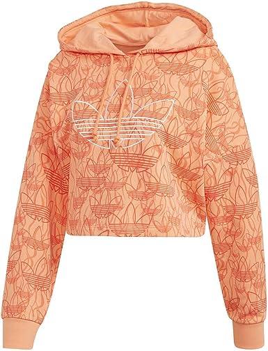 Fuera compañero auge  adidas Originals - Sudadera con capucha para mujer, color coral,  multicolor: Amazon.es: Ropa y accesorios