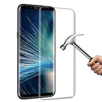 CXG Galaxy S8 Protector de Pantalla,Cobertura Completa Cristal Templado 3D Screen Protector Alta Definicion