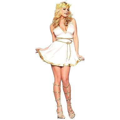 gold greekroman goddess adult costume mediumlarge