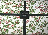 Ralph Lauren HOLLY TREE PINE PLACEMATS -Set of 4 - HOLLY TREE PINE Christmas Holiday Winter Floral