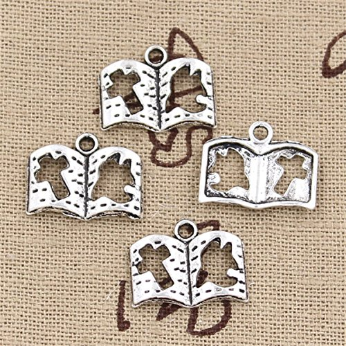 50pcs Charms dove cross book 13x17mm Antique Making Vintage Tibetan Silver Zinc Alloy Pendant
