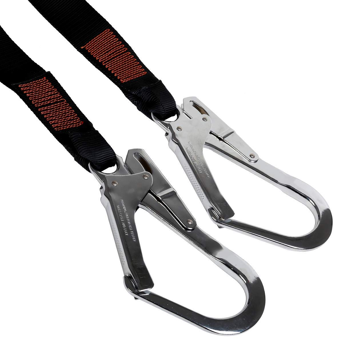 KSEIBI 422006 Single Leg Snap Hook and Two Scaffolding Hook w 6-Foot Internal Shock Lanyard Fall Protection Equipment for Safety Harness by KSEIBI (Image #3)