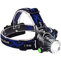 Auveach Head Flashlight Waterproof Adjustable Headlight Headlamp 2000LM Zoom XML-T6 Head Lamp