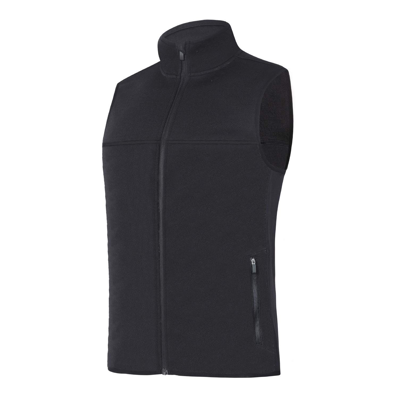 beroy Vest Jacket for Men Full Zip Soft Sweater Fleece Vest Sleeveless Jacket with 2 Zipper Pockets(Black,3XL) by beroy