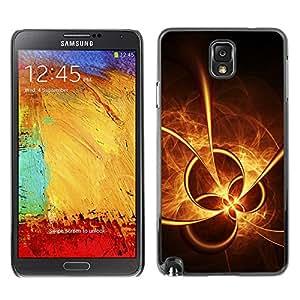 X-ray Impreso colorido protector duro espalda Funda piel de Shell para SAMSUNG Galaxy Note 3 III / N9000 / N9005 - Sun Fire Abstract Shapes