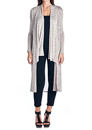 8c1af5c3be 82J-2073HC-A03 Women S Hacci Open Front Stylish Long Cardigan with Side  Pockets -