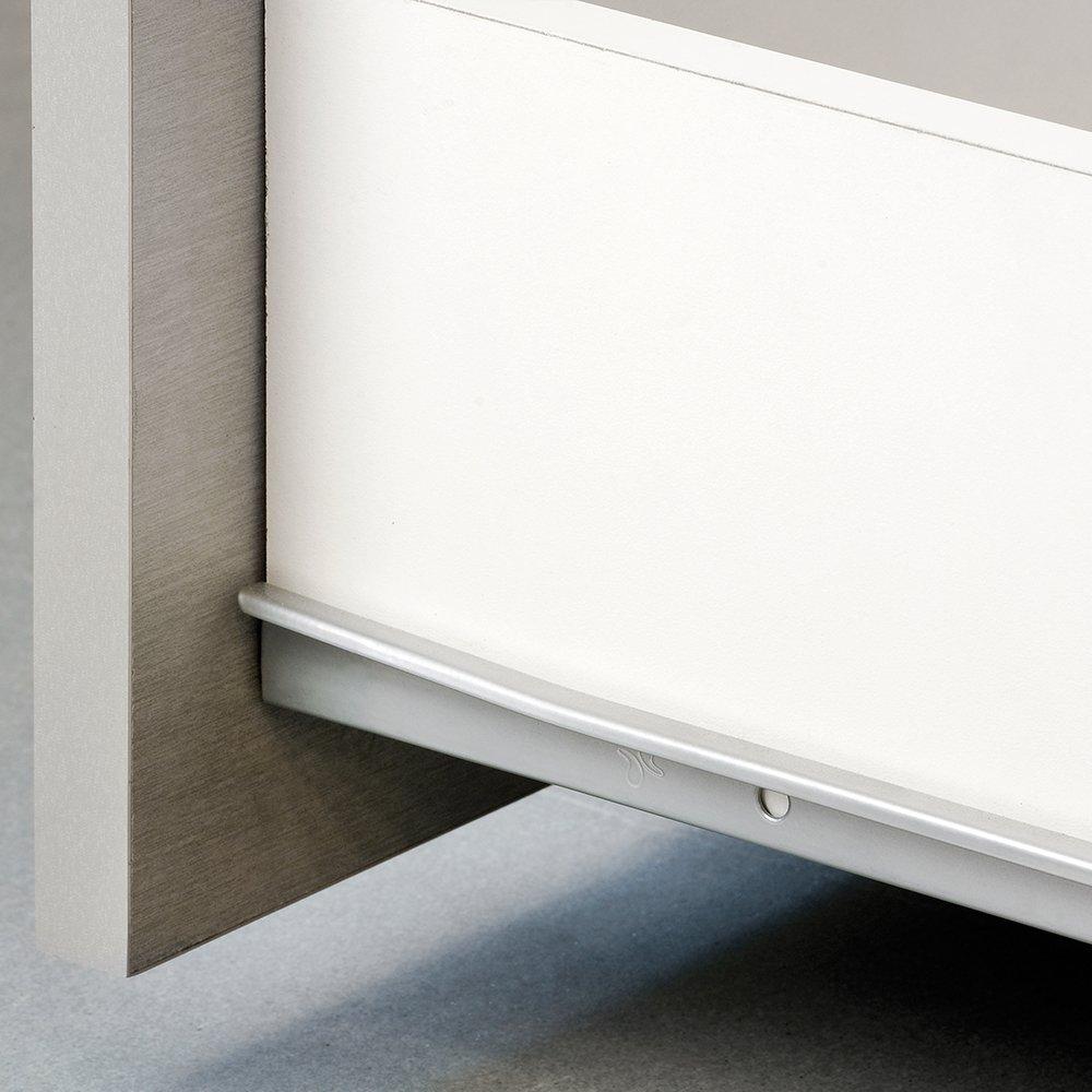 EMUCA 3019812 Lot de 5 Paires coulisses//Glissi/ères /à Galets Extrait Partie pour Tiroir couleur Blanc 600mm
