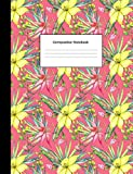 Best GENERIC Friend For Teen Girls - Composition Notebook: Pink Watercolor Floral College Ruled Blank Review