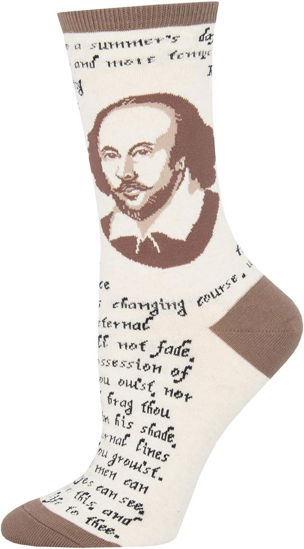 Socksmith Jane Austen Graphic Crew Socks
