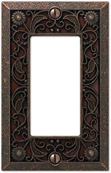 Amerelle Filigree Aged Bronze Metal Switchplate Rocker GFI Cover Wall Plates