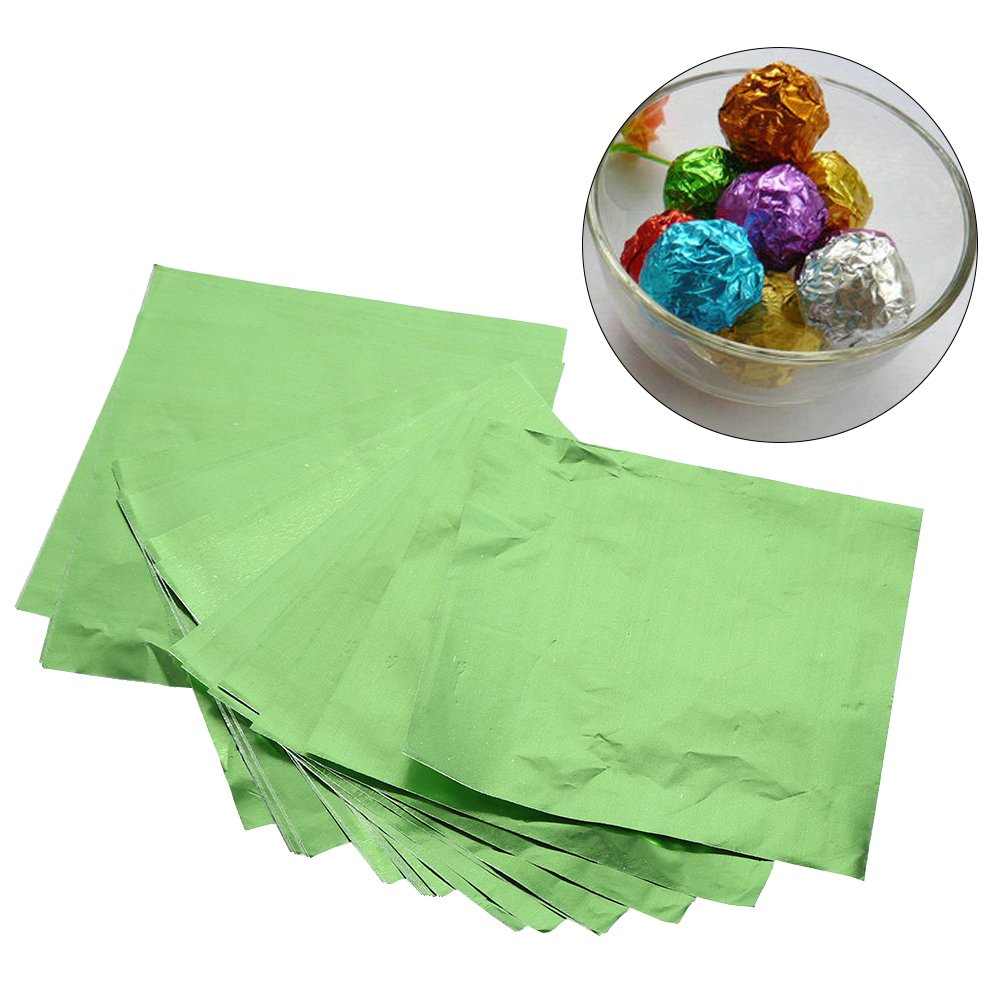 100Pcs//Lot Square Candy Sweets Chocolate Lolly Foil Wrappers Confectionary 3 X 3 Multicolors Gold