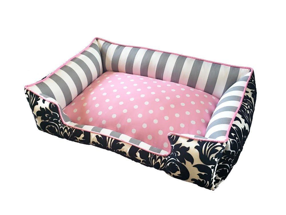 Pink & Black Girly Dog Bed