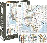 Aquarius 62130 New York Subway Jigsaw Puzzle (500 Piece)