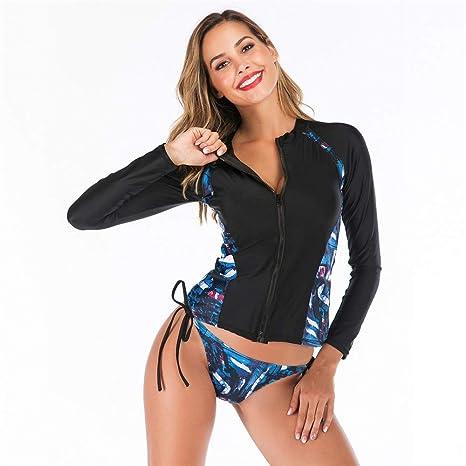Bikini Set traje de baño Mujeres Imprimir Dividir Traje de ...