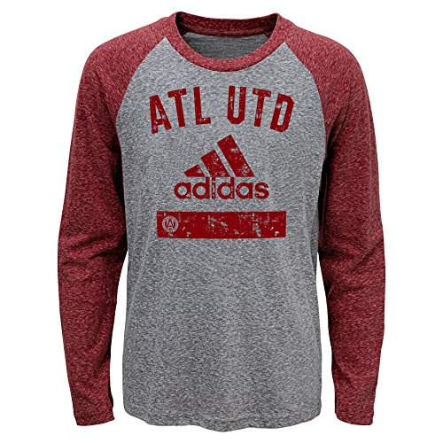 Outerstuff MLS Atlanta United Boys -Triblend Equiptment Long sleeve Tee, Heather Grey, Small (4) by Outerstuff