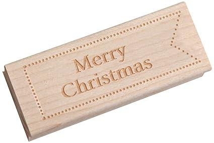 Vestido mi Cupcake Vintage sello de madera, feliz Navidad, Formal fuente 21-point