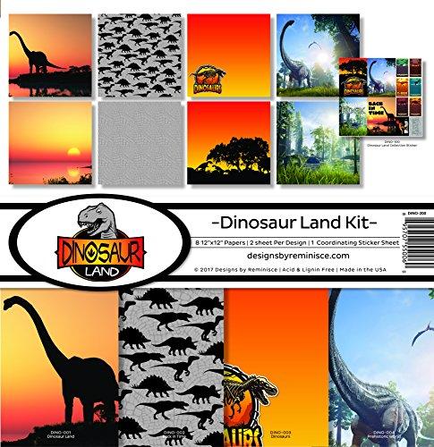 Reminisce Dinosaur Land Scrapbook Collection Kit - Animal Scrapbook