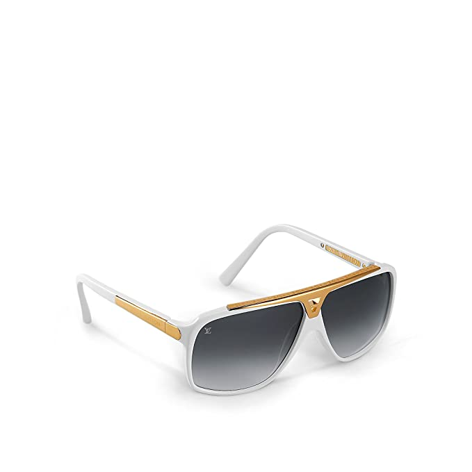 7be58f1139 Louis Vuitton Evidence White Sunglasses Z0351W  Amazon.ca  Clothing    Accessories