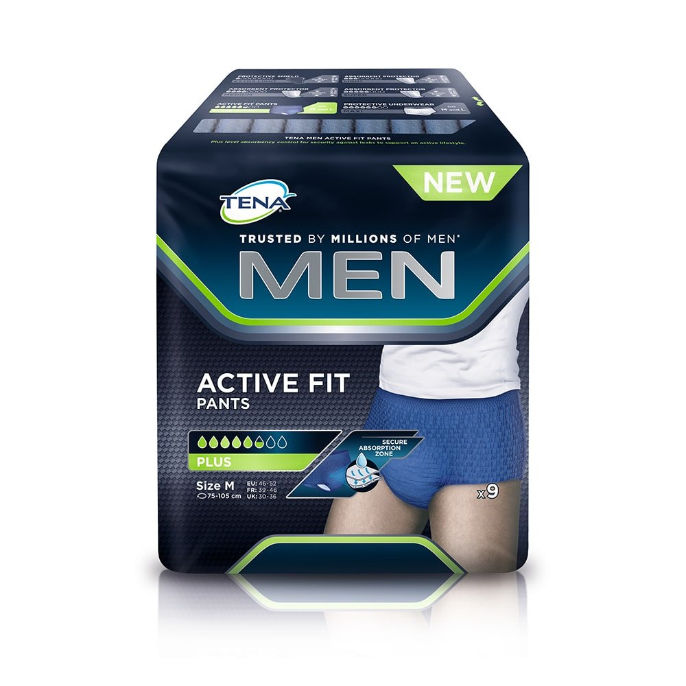 Tena Men Active Fit Pants Plus Medium - Pack of 9 (Incontinence Pants) 109098531