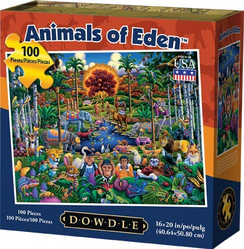 Dowdle Jigsaw Puzzle - Animals of Eden - 100 Piece -